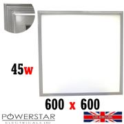 600 x 600mm 45W LED Ceiling Flat Tile Panel Light Downlight Bulb Daylight 6000k